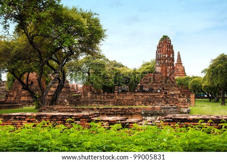 Ayutthaya Ancient Historical Park in Thailand