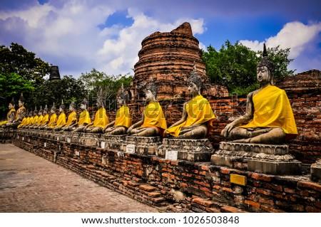 Ayutthaya Historical Park covers the ruins of the old city of Ayutthaya, Phra Nakhon Si Ayutthaya Province, Thailand
