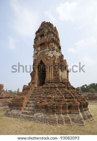 Ayutthaya temple ruins, Wat Maha That