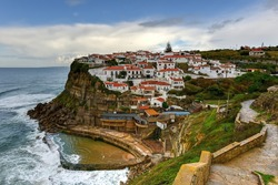 Azenhas do Mar in Portugal. It is a seaside town in the municipality of Sintra, Portugal.