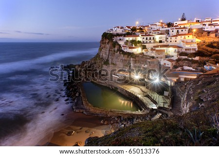 Azenhas do Mar, Portugal - stock photo