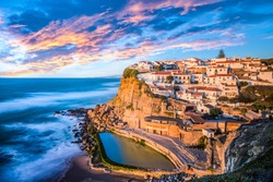 Azenhas do Mar, Sintra near Lisbon on a beautiful sunset