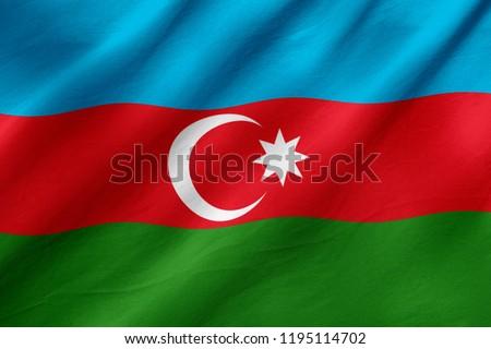 Azerbaijan flag, national, worl flags concept