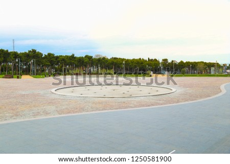 Azerbaijan Heydar Aliyev Central Park. The total area of the park is 14 hectares. 7 modern fountains and artificial lake were built in the area. Azerbaijan Shamkir. October 3, 2017