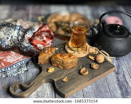 Azerbaijan national baklava, made during Novruz holiday