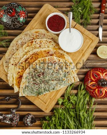 Azeri meal Qutab