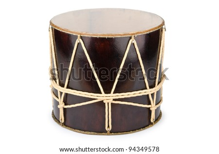Azeri traditional drum nagara on white