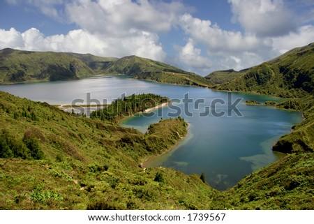 azores mountain lake