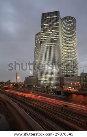 Azrieli Center, Tel Aviv - stock photo