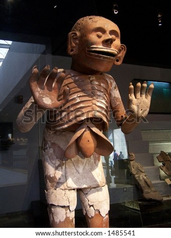 Aztec idol, museum of Tenochtitlan (Mexico)