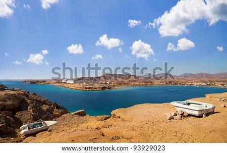 Azure bay in Sharm-El-Sheikh, Egypt