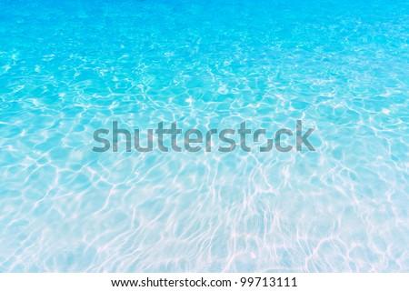 Azure clear sea water