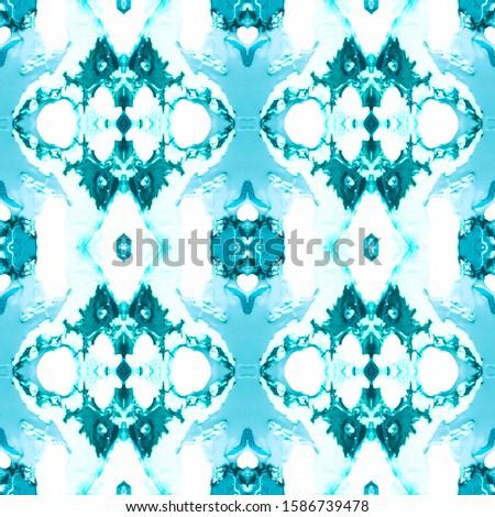 Azure Vintage Seamless Pattern Tile. Ornate Tile Background Ornamental Geometry. Black Blue Tile Dressing element Antique Element Bright Kaleidoscope Pattern Floral Elements Floral Elements