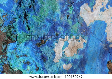 Azurite and Malachite - stock photo
