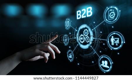 B2B Business Company Commerce Technology Marketing concept. Stockfoto ©