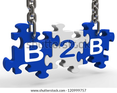 B2b Showing Sign Of Business And Commerce - stock photo