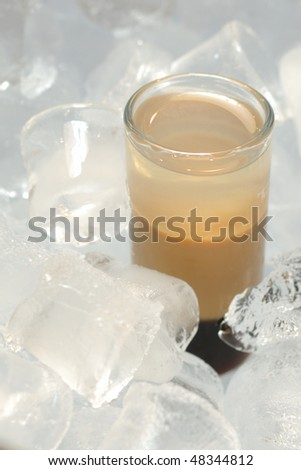stock photo : B52 cocktail served in ice with Kahlua, Baileys, Cointreau