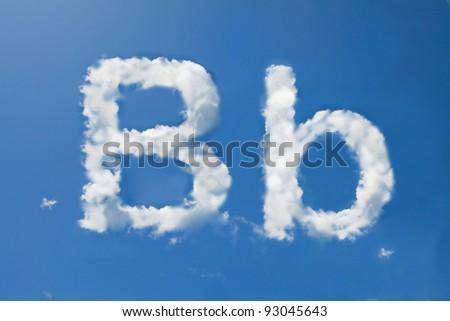 B font clouds