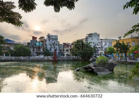B52 in Ho Huu Tiep Lake, Hanoi, Vietnam Foto stock ©