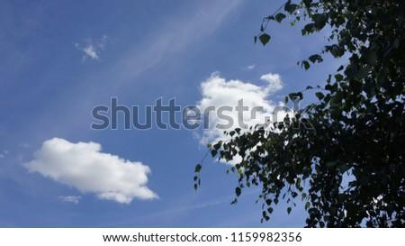 błękit niebo chmura Zdjęcia stock ©