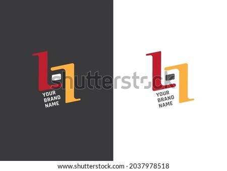 B-L-I  LETTER LOGO DESIGN..  MINIMAL AND SIMPLE LOGO DESIGN Stock fotó ©