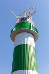 Bülk lighthouse at the Baltic Sea coast in Schleswig-Holstein, Germany