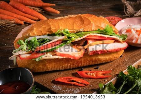 Bánh mì or banh mi is the Vietnamese word for bread. Zdjęcia stock ©