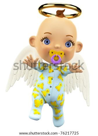 baby angel walking