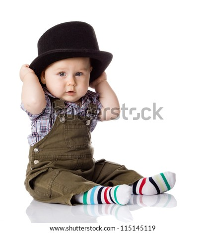 baby boy isolated - stock photo