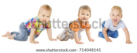 baby boys group  crawling...