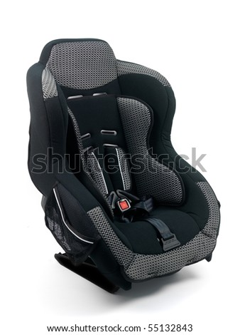 Baby car seat isolated against a white background