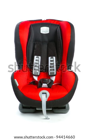 baby car seat, isolated on white