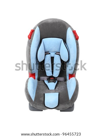 Baby car seat. Isolated with clipping path.