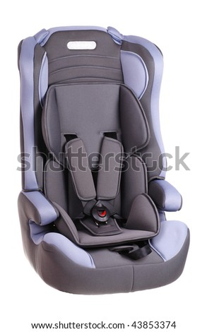 Baby car seat on a white background