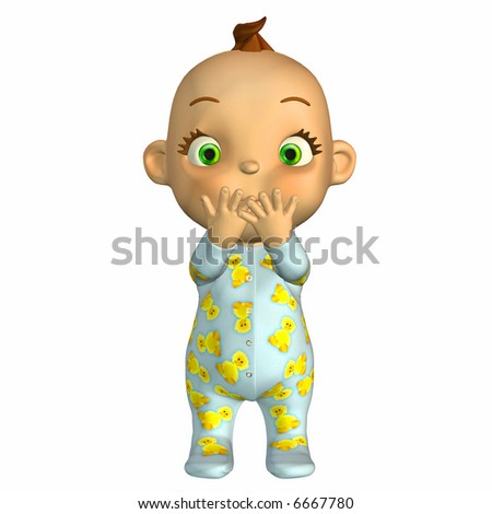 Baby Cartoon Surprised