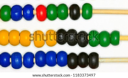 baby colored abacus toy / background image educational educational educational educational game #1183373497
