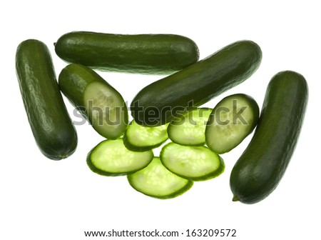 Baby Cucumber freshly sliced for a healthy alternative