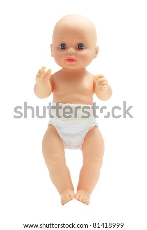 Baby Doll on White Background