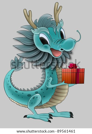 Baby Dragon - stock photo