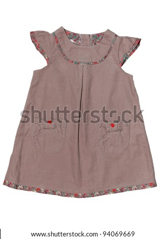 baby dress isolated on white background