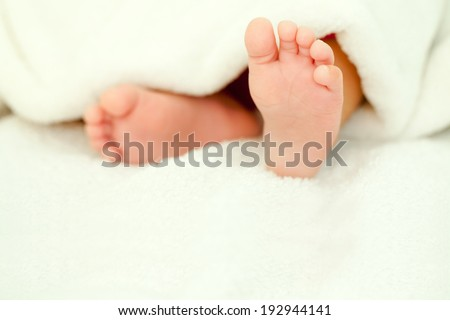 baby feet close up