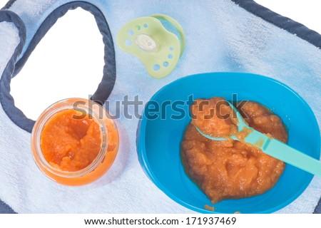 Baby food in a porridge bowl / Baby Food