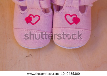 Baby foot love pink #1040485300