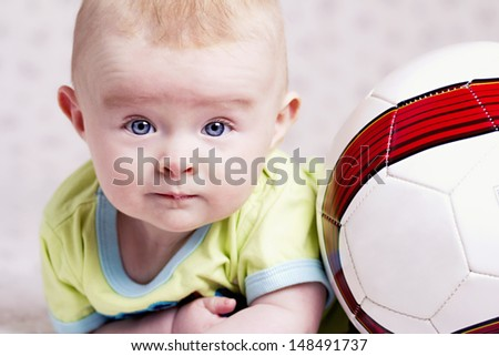 Baby football player