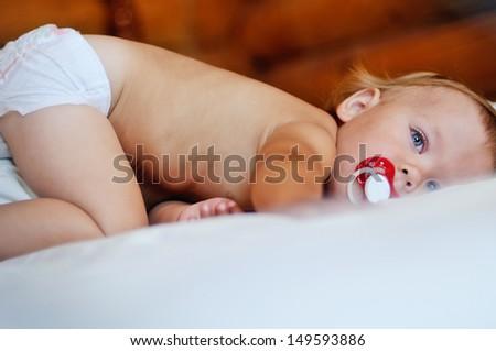 baby girl going to sleep