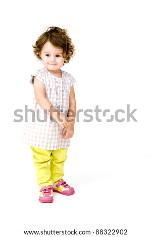 Baby Girl Isolated on a White background.