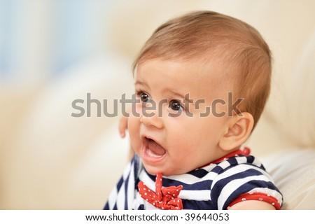 baby girl portrait #39644053