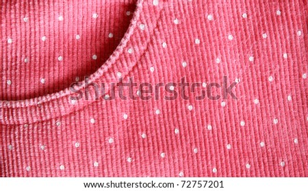 Baby girl's pink skirt texture
