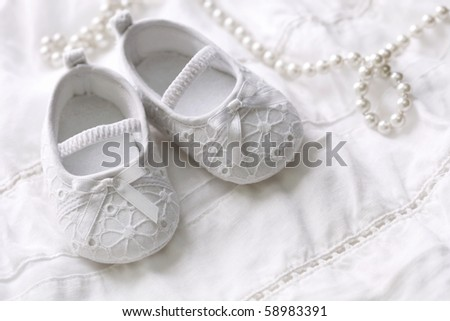Baby Girls Shoe on Baby Girl Shoes On White Background Stock Photo 58983391