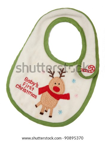 baby girl white  neck towel